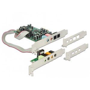 CARTE SON INTERNE DeLOCK 89640, 7.1 canaux, 24 bit, 92 dB, PCI-E