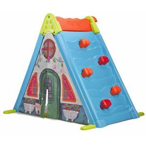 MAISONNETTE EXTÉRIEURE FEBER - Maison pour Enfant 3 en 1 : Mur, Tente et