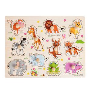 PUZZLE Hicollie® Enfants Bébé Puzzle Bois Zoo Animal Cogn