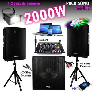 PACK SONO PACK SONO MIXAGE DJ 2000W avec 1 CAISSON + 2 ENCEN