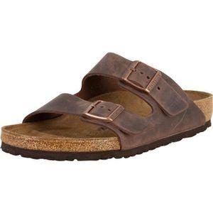 SANDALE - NU-PIEDS Birkenstock Homme Sandale en cuir Arizona BS, Marr