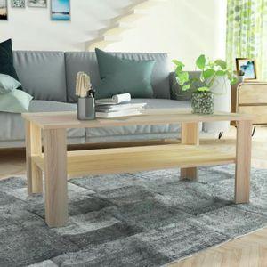 TABLE BASSE Table basse en aggloméré 100 x 59 x 42 cm Chêne