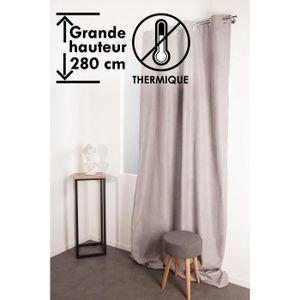RIDEAU Rideau Occultant Thermique Anti-Froid 135 x 280 cm
