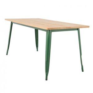 TABLE À MANGER SEULE Table LIX en Bois (160x80) Vert Choux Bois Naturel