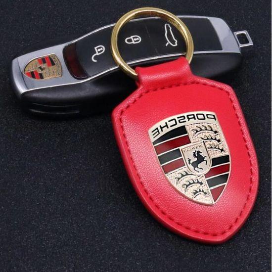 avec Anneau suppl/émentaire Design Original avec Fermeture /à vis Porsche Porte-cl/és Disque de Frein Rouge