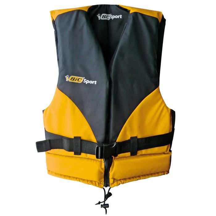BIC SPORT Gilet de Sauvetage Kayak Beach - Mixte - Noir et orange