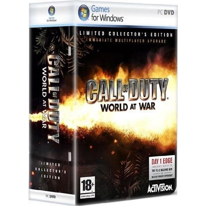 JEU PC CALL OF DUTY WORLD AT WAR COLLECTOR /JEU PC DVD-RO