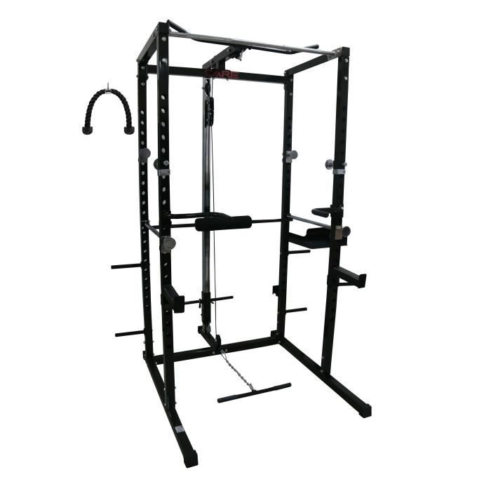 CARE Cage de musculation Power Rack - Mixte - Noir et Gris