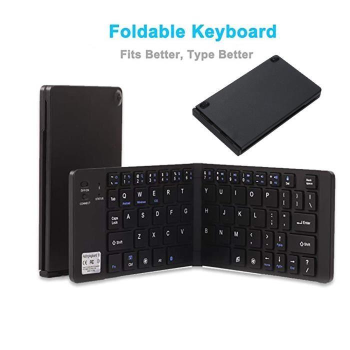 Portable Ultra Slim sans fil Bluetooth clavier pliable pour Ios_T1210_Re686
