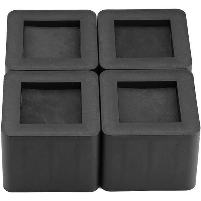 4pcs Coussin pour le Pied de meuble Riser de meuble Réhausseur de lit/Table/Bureau/Canapé