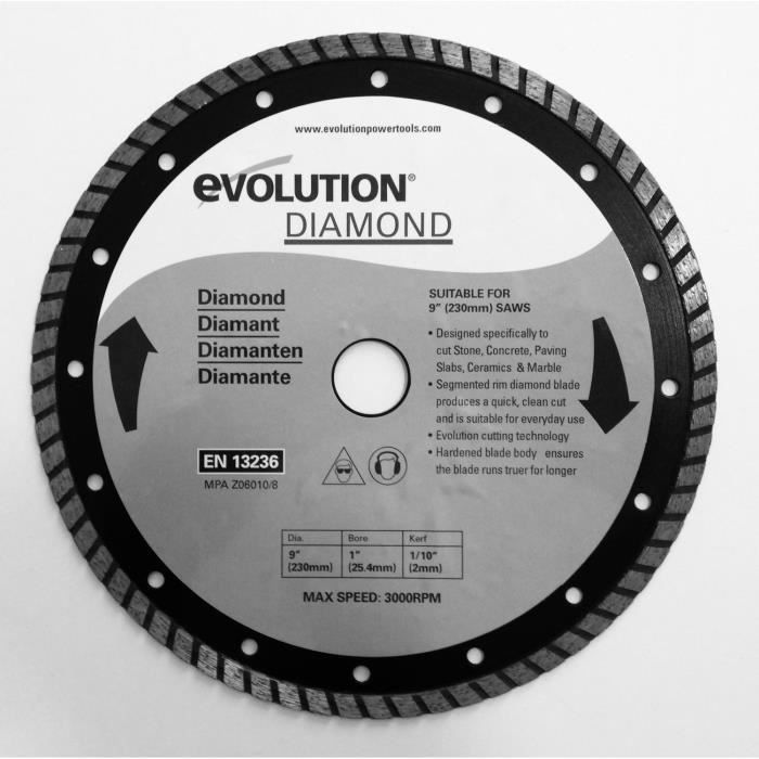 EVOLUTION Lame diamant Lamdrage230 230mm
