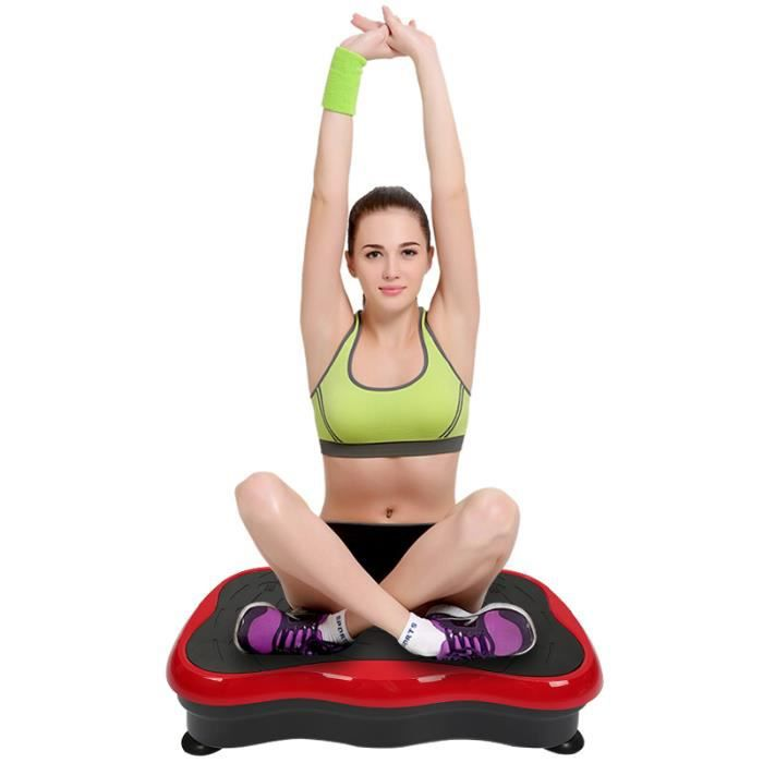 LUXS Pro Plateforme Oscillante 5 niveaux réglables Papillon Plateforme Vibrant Fitness Musculation et Perte de Poids Rouge/Noir