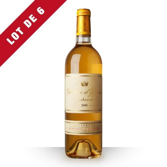 6X Château d'Yquem 2008 Blanc 75cl AOC Sauternes - Vin Blanc