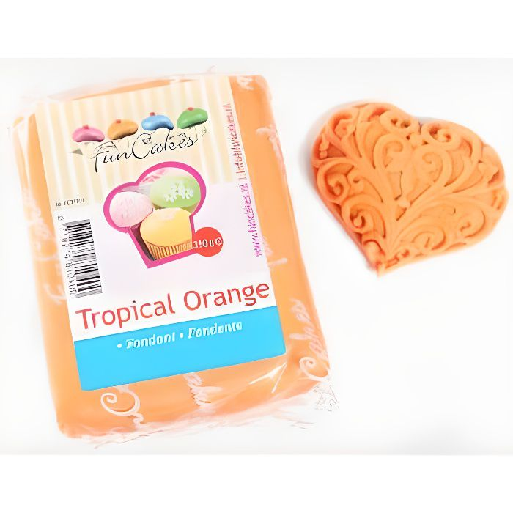 Pâte à sucre orange Funcakes