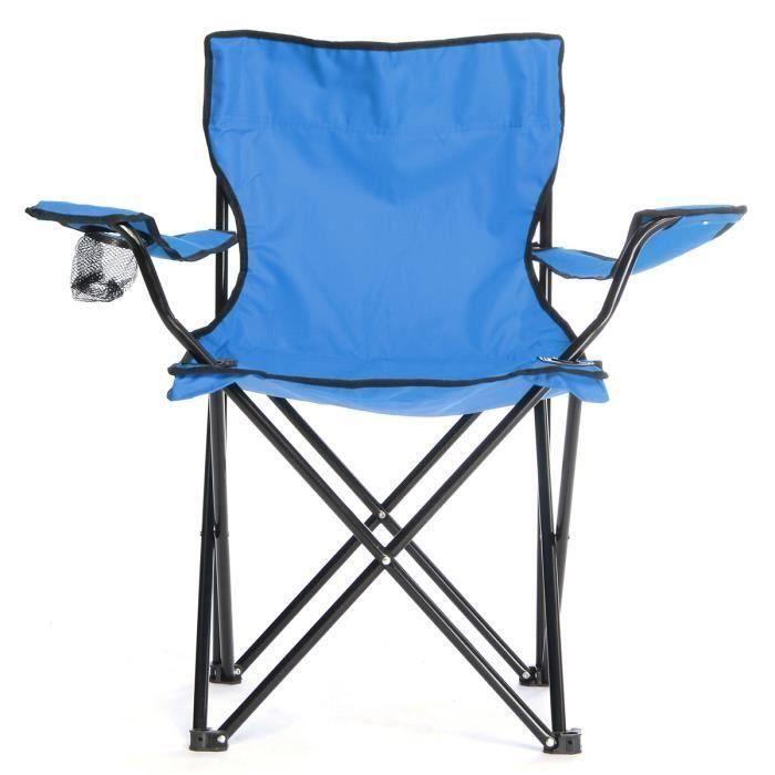 Pliable Chaise Fauteuil Pr Camping Pêche Plage Jardin Bleu