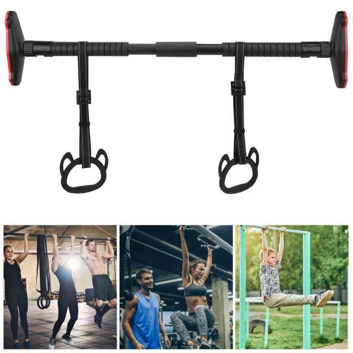 Kit d'anneau de suspension de traction pour enfants durable Gymnastique intérieure Barre de balançoire et anneaux HB032