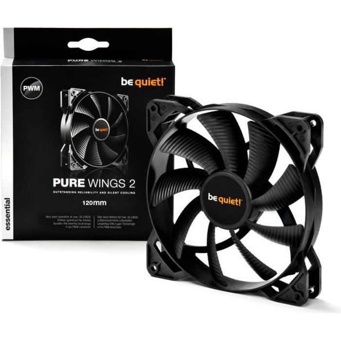 Be Quiet Ventilateur de boîtier PURE WINGS 2 - PWM 120mm