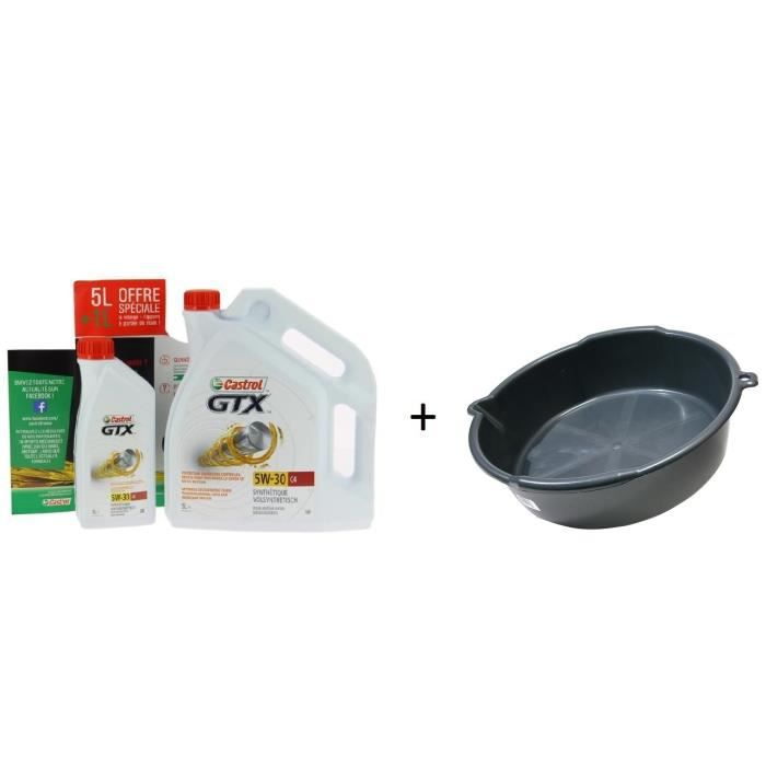 CASTROL GTX Ultraclean 5W30 C4 5L+1L + Bac de vidange