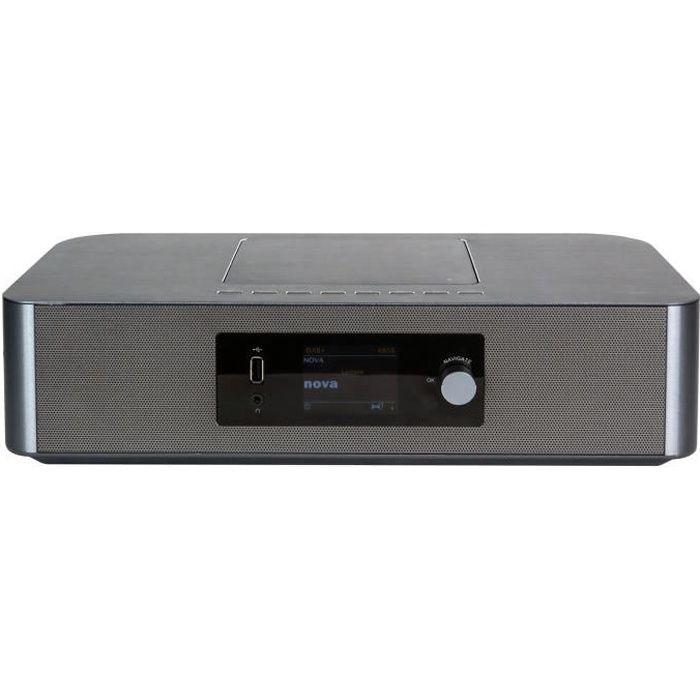 CGV CD30I+ - Système audio stéréo 2 x 12W - FM/DAB+ - Lecteur CD/R/RW/MP3 - Wi-Fi/Bluetooth - USB/AUX - Ecran couleur - Réveil (