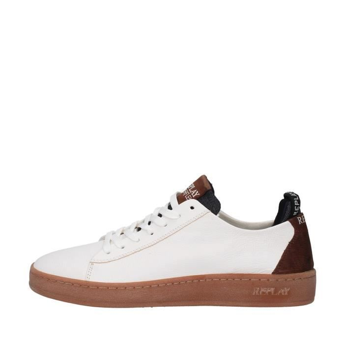 Replay GMZ52.240.C0020L chaussures de tennis faible homme BLANC