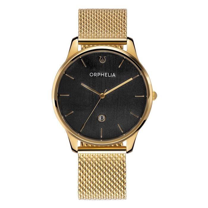 ORPHELIA - Montre Hommes - Quartz - Analogique - Bracelet en Acier inoxydable - Doré - OR62901