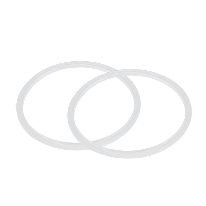 Joint Silicone Anneau D'éTanchéIté pour Autocuiseur 22 Cm de DiamèTre IntéRieur, 2 PièCes, Transparent
