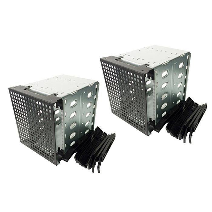 BOITIER PC - PANNEAUX LATERAUX Cages de châssis de boîtier de disque dur 2 pièces
