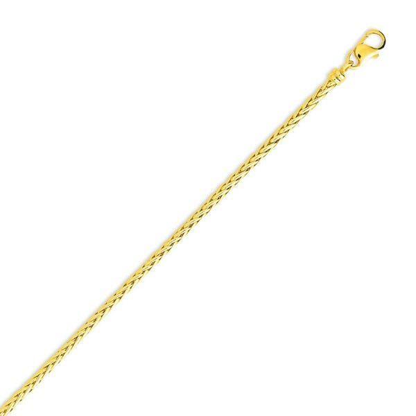 YSORA - Collier en or jaune composé de mailles palmier de 2 mm. - 45 cm en Or Jaune - POINÇON : Or Jaune - 750/1000