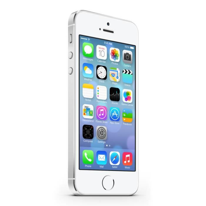 apple iphone 5s blanc 16goo achat smartphone pas cher. Black Bedroom Furniture Sets. Home Design Ideas