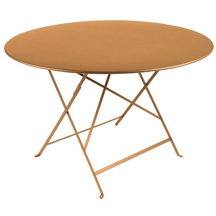 Table de jardin pliante metal Ronde 90cm - Achat / Vente table basse ...