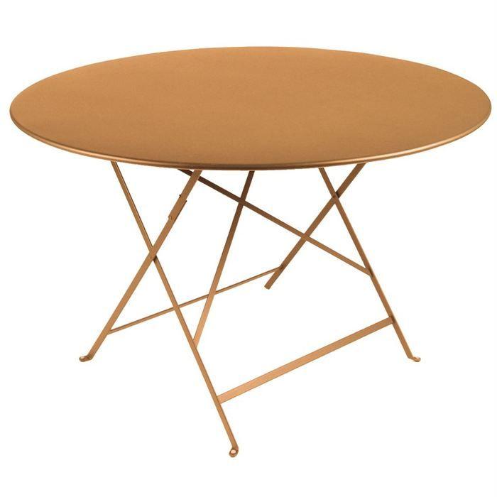 Table de jardin pliante metal Ronde 90cm - Achat / Vente ...