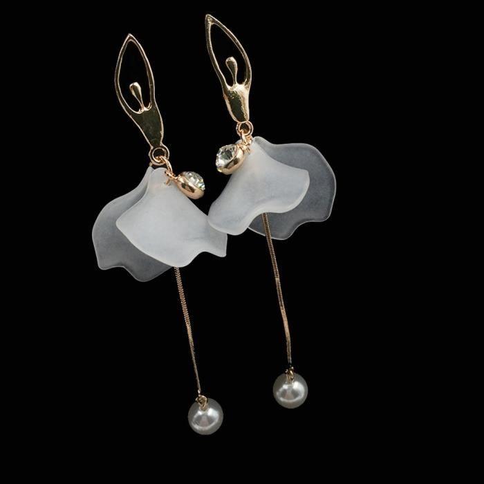 Cristal Strass Élégant Femme Géométrique Rectangle Drop Dangle Clous Boucles d/'oreilles