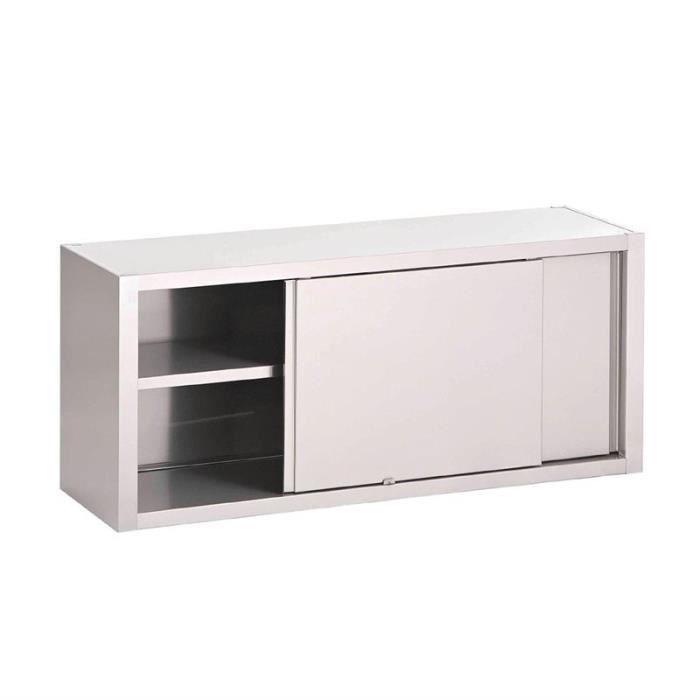Table Armoire Inox 100 X 70 Cm Avec Portes Coulissantes Equipem