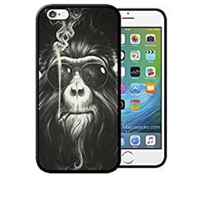 Coque iPhone 7 PLUS Singe qui Fume Monkey Smoke Sw