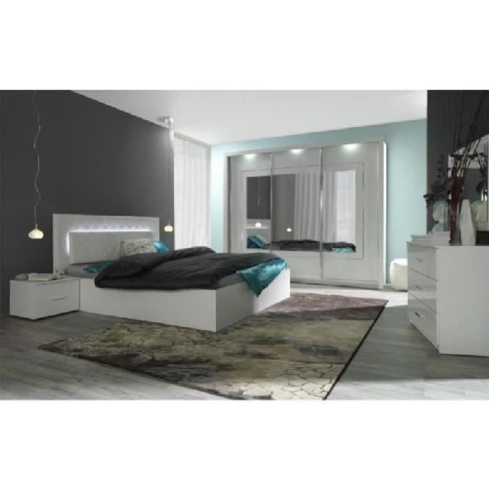 chambre coucher compl te panarea led laqu e achat. Black Bedroom Furniture Sets. Home Design Ideas