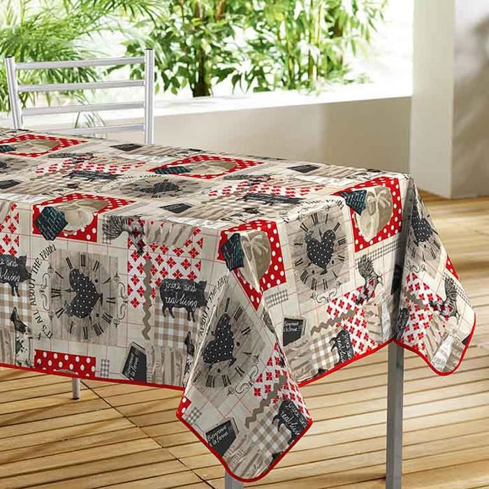 toile cir e la ferme 140x240cm achat vente nappe de. Black Bedroom Furniture Sets. Home Design Ideas