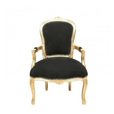 fauteuil baroque style louis xv achat vente fauteuil marron cdiscount. Black Bedroom Furniture Sets. Home Design Ideas