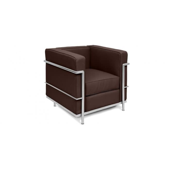 fauteuil lc2 inspir charles le corbusier c achat vente fauteuil cdiscount. Black Bedroom Furniture Sets. Home Design Ideas
