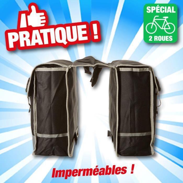 Double sacoche Dunlop pour porte-bagage de v/élo R/ésistante aux intemp/éries