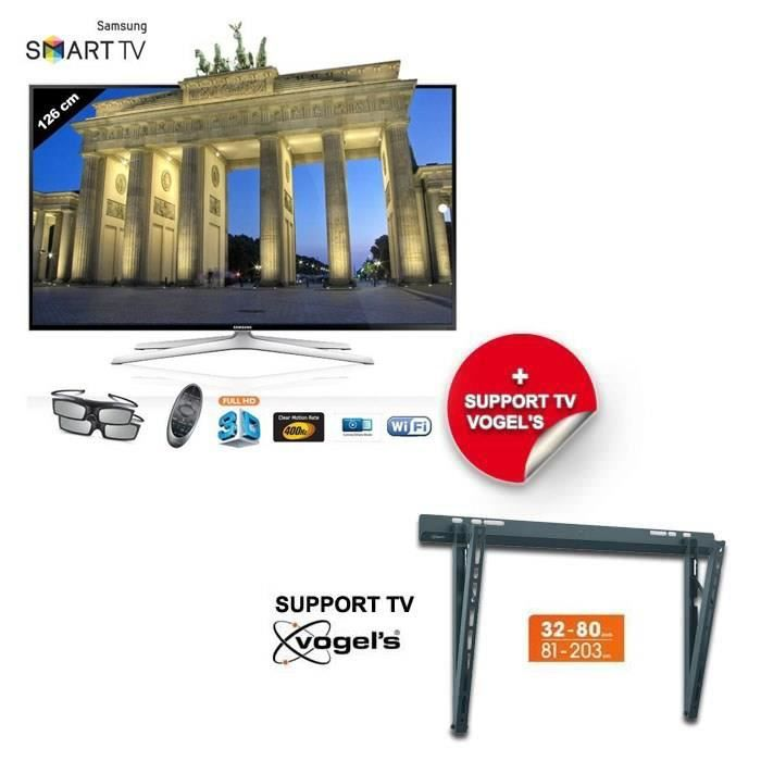 samsung ue50h6400 smart tv 127 cm support mural pack. Black Bedroom Furniture Sets. Home Design Ideas