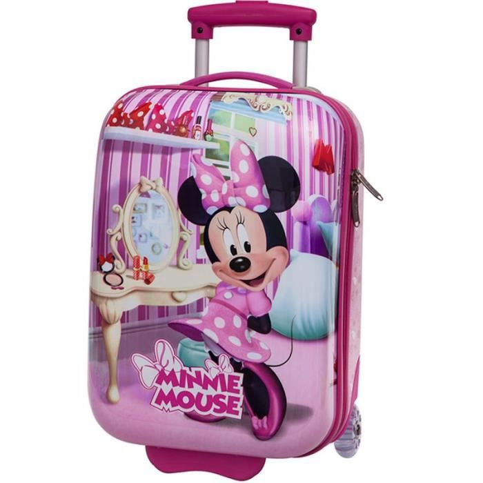 valise cabine enfant minnie mouse 48cm rose rose achat vente valise bagage 3662796043400. Black Bedroom Furniture Sets. Home Design Ideas