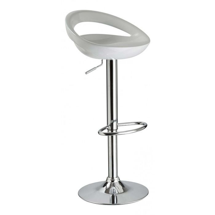 tabouret de bar blanc laura lot de 2 id 39 clik achat vente tabouret de bar cdiscount. Black Bedroom Furniture Sets. Home Design Ideas
