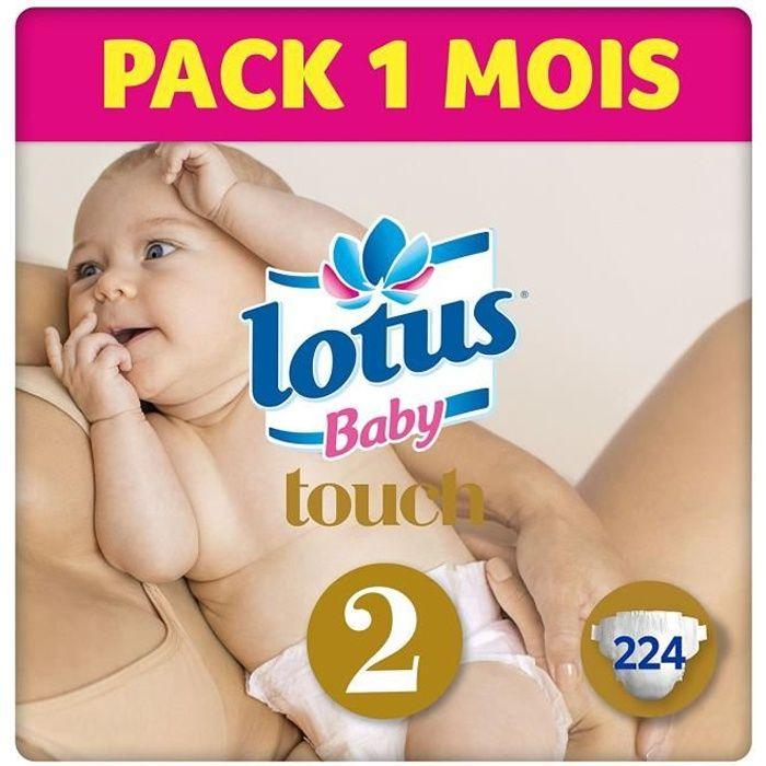 Couche Taille 1 Lotus Baby Touch 2-5 kg//NouveauN/é 44 couches