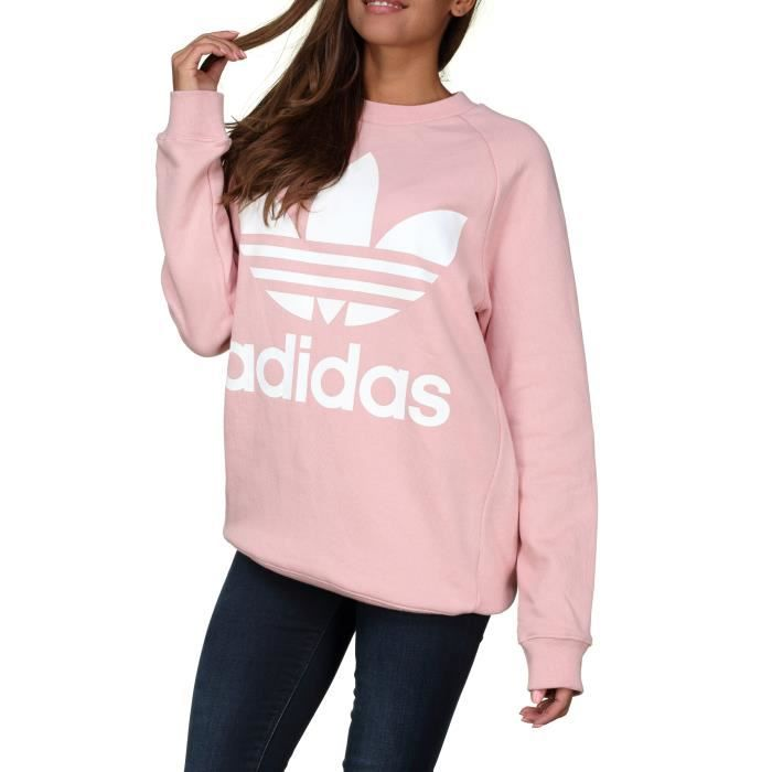088b73f7fbf9 Sweat femme Adidas Oversized Sweat Dh4432 Rose Rose Rose - Achat ...