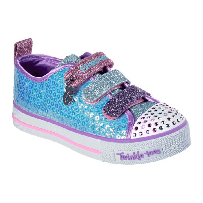 a915ffc67cf Baskets basses Skechers Twinkle Toes   Twinkle Lite - Mermaid Magic ...