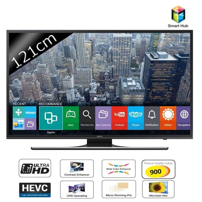 samsung ue48ju6400 smart tv led uhd 4k 121cm t l viseur led avis et prix pas cher cdiscount. Black Bedroom Furniture Sets. Home Design Ideas