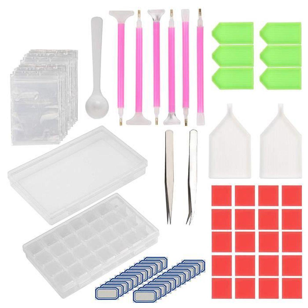 Kit papier créatif KAKOO 134 Pcs Outils de Broderie Diamant, Kit Acce