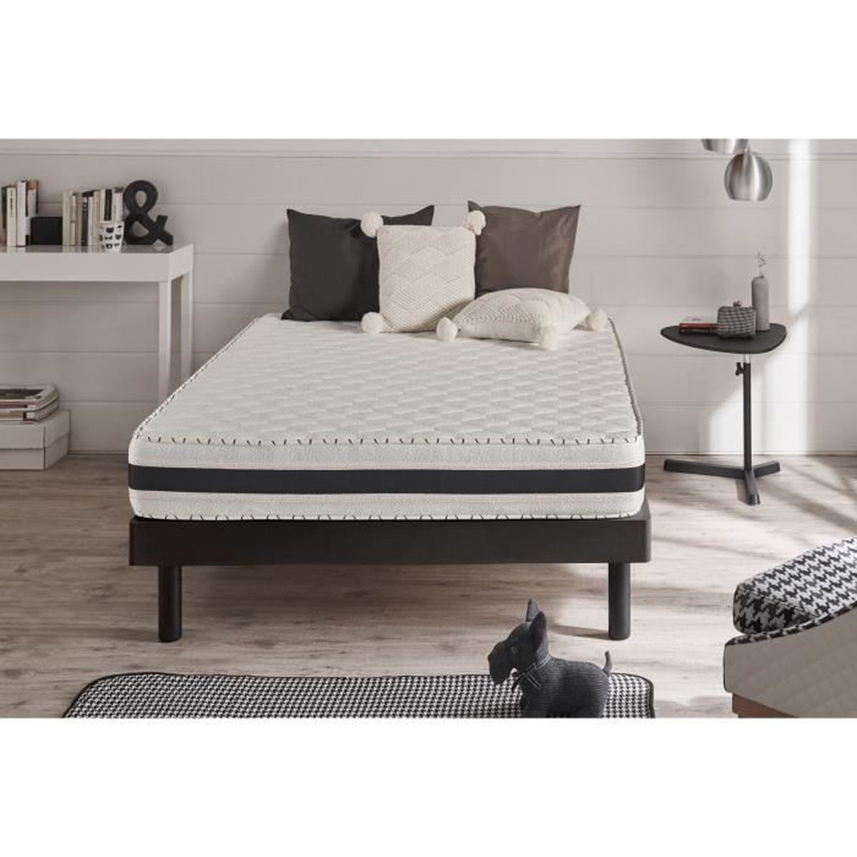 matelas aloe intense 90x190cm blue latex mousse m moire viscotex 22 cm achat vente. Black Bedroom Furniture Sets. Home Design Ideas