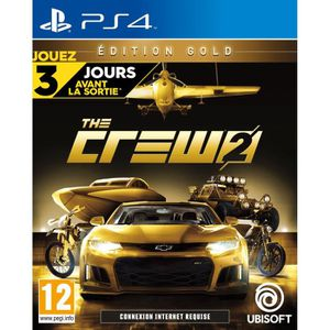 JEU PS4 The Crew 2: Édition Gold Jeu PS4