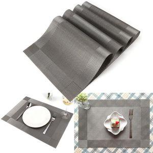 SET DE TABLE 4pcs set de table en pvc effet tissé napperon 45 x